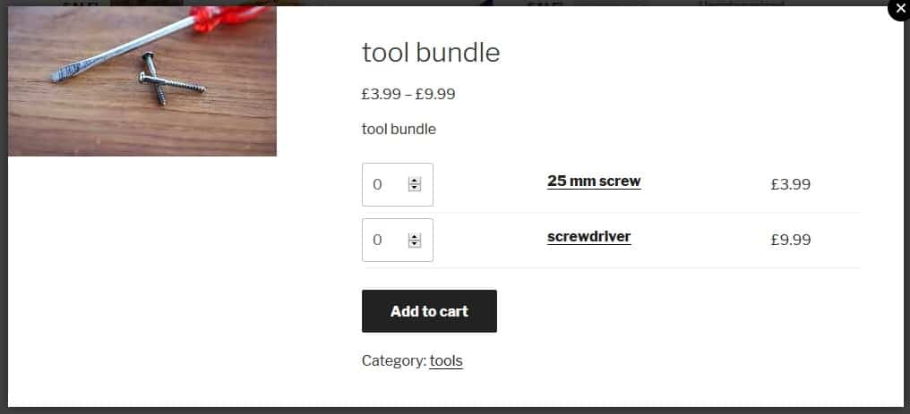 Group products into easy to sell bundles