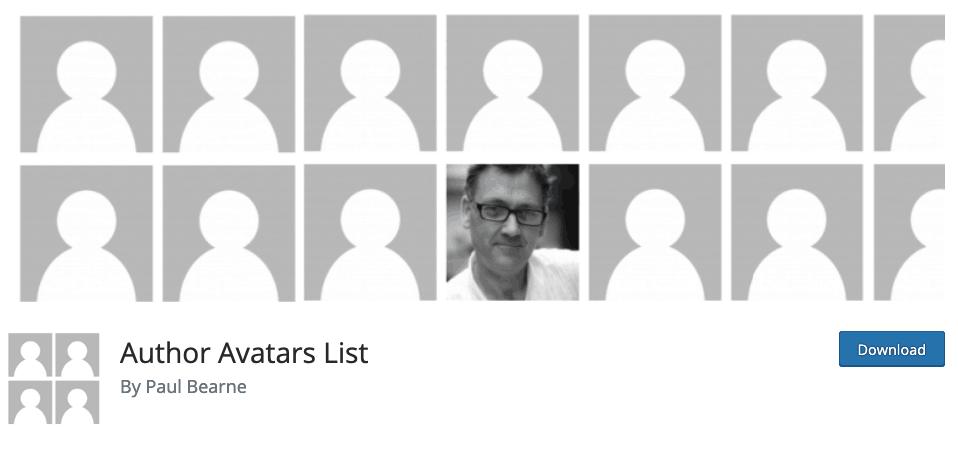 Author Avatars List