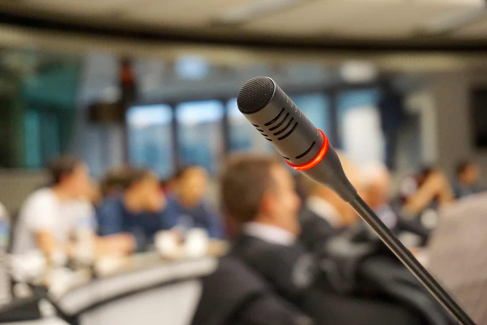 microphone at the conference