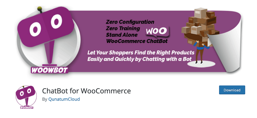 Chatbot for Woocommerce