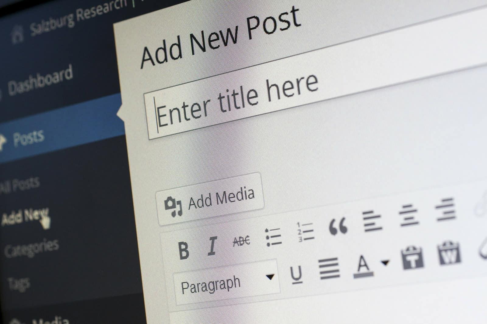 Add new post option in WordPress