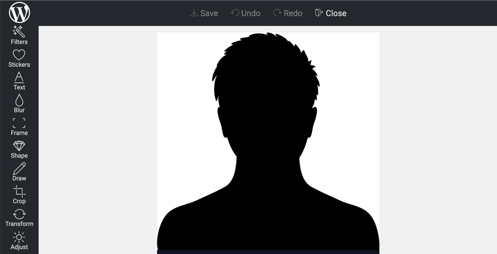 Image editor dashboard