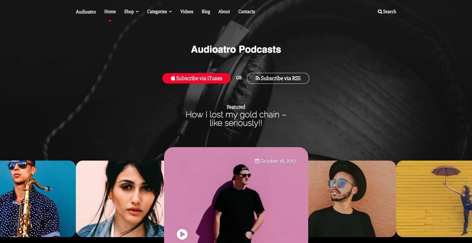 Audioarto theme