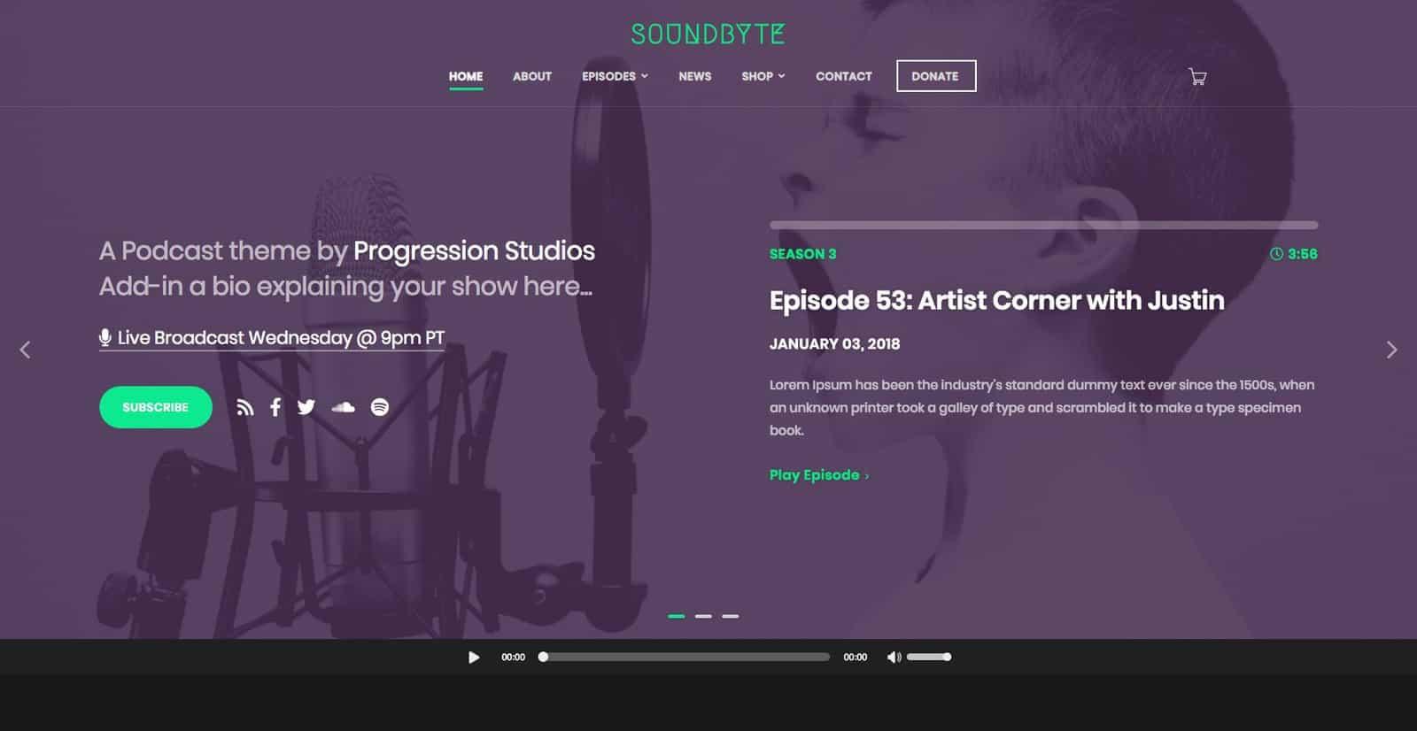 Soundbyte theme