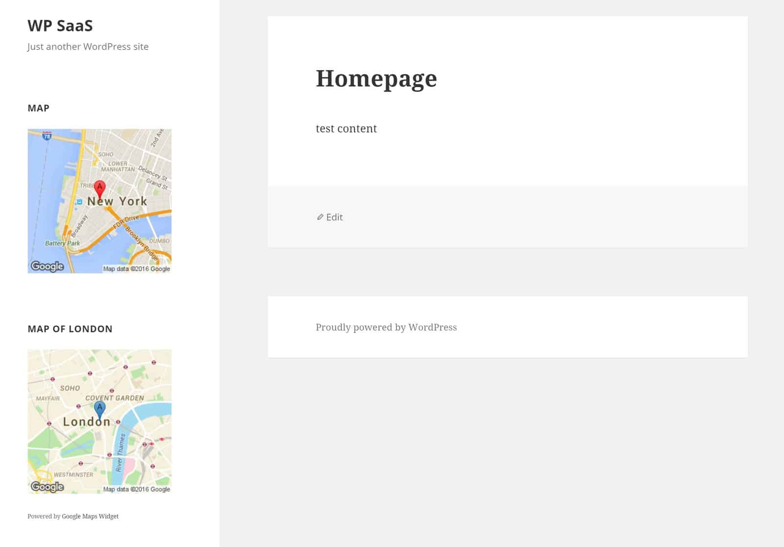 Thumbnail map widget preview