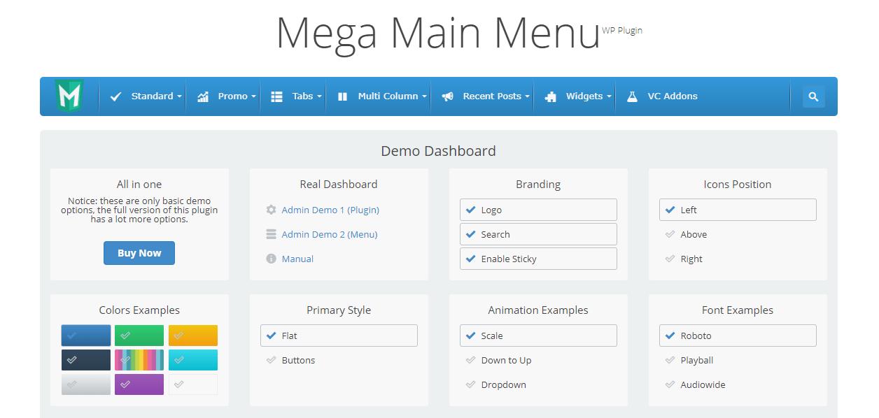 Mega Main Menu
