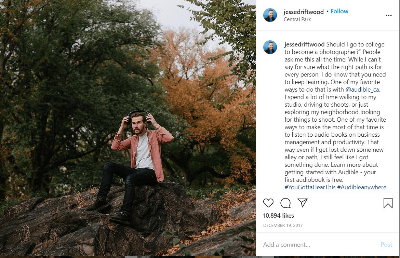Jesse Driftwood Instagram