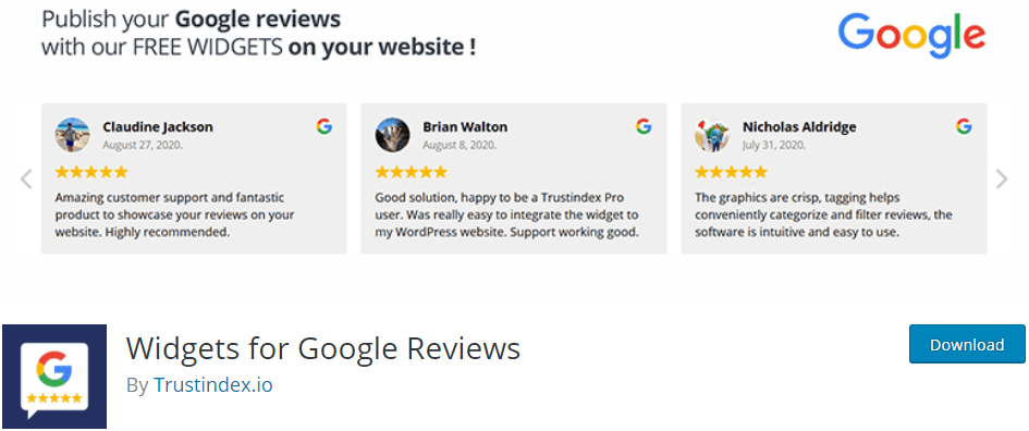Widgets for Google Reviews