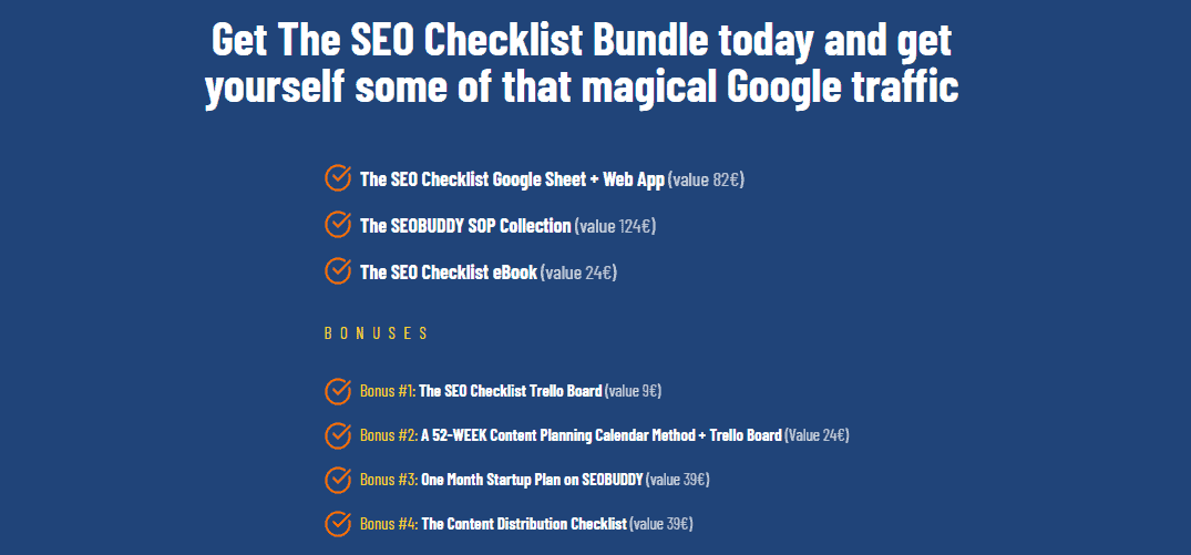 SEO Checklist package