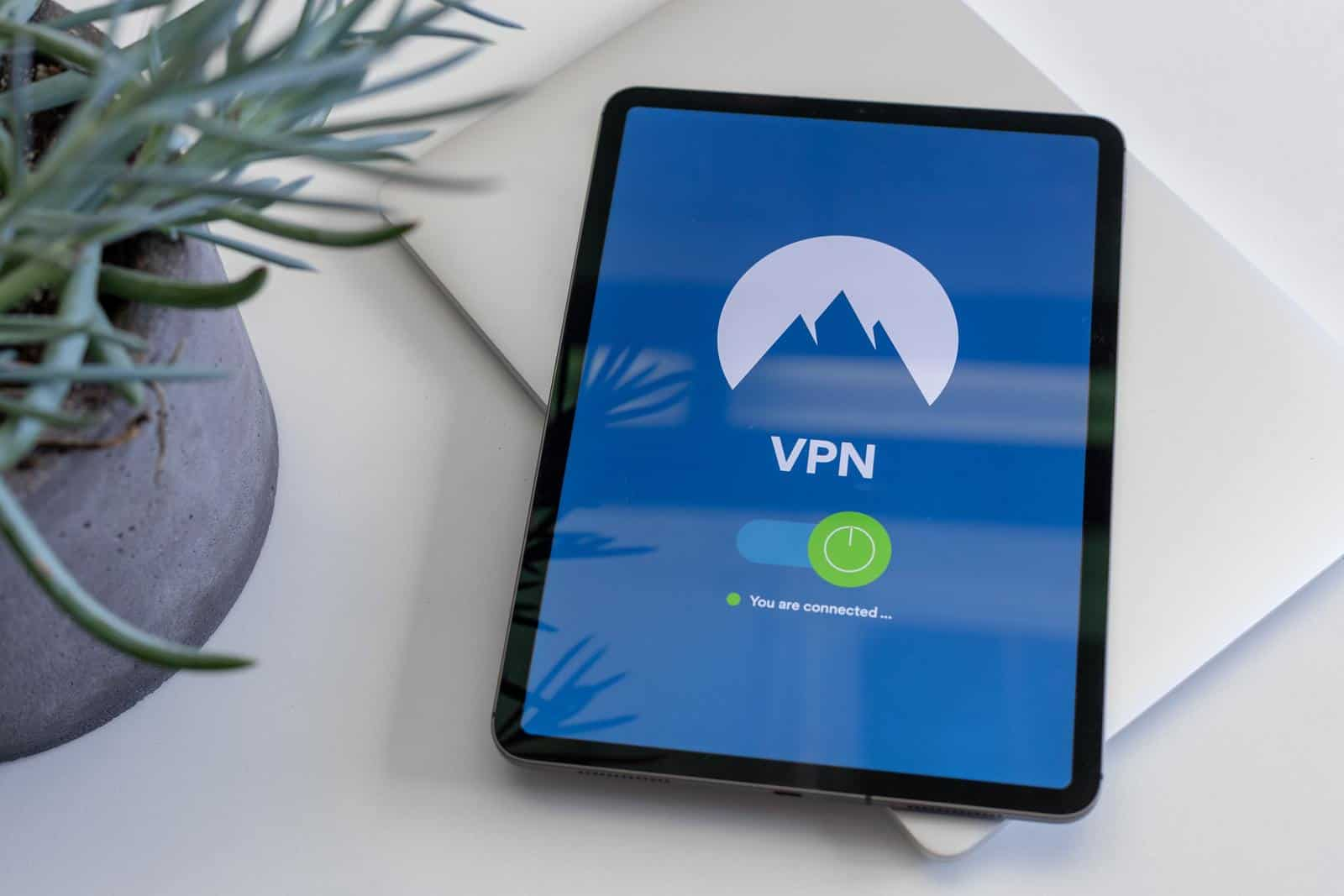 Tablet connected to VPN