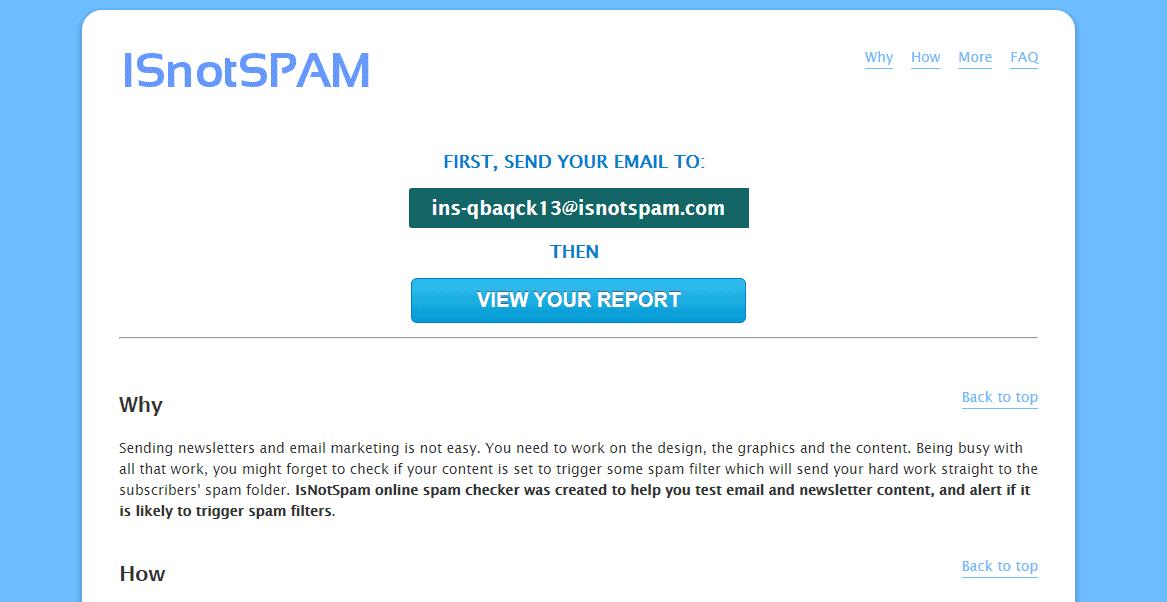 IsNotSpam