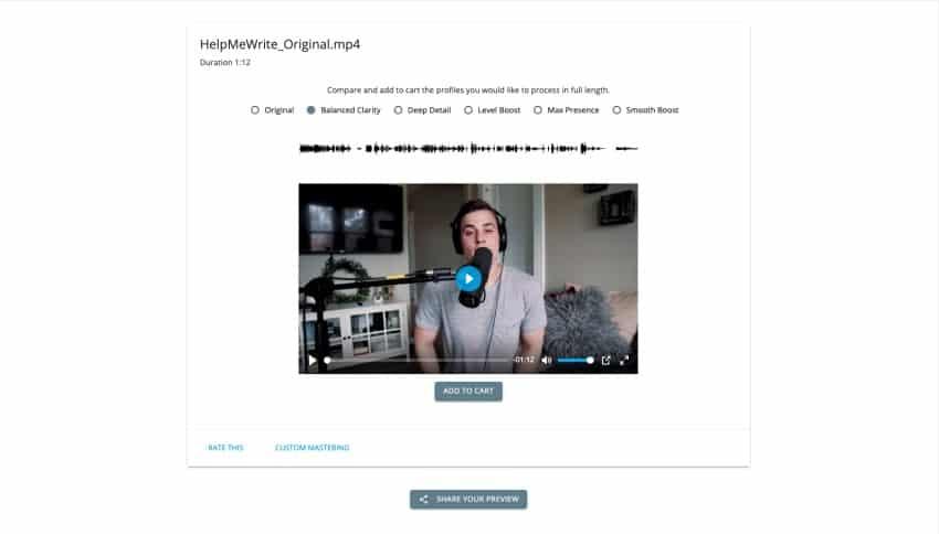 ReMasterMedia audio preview