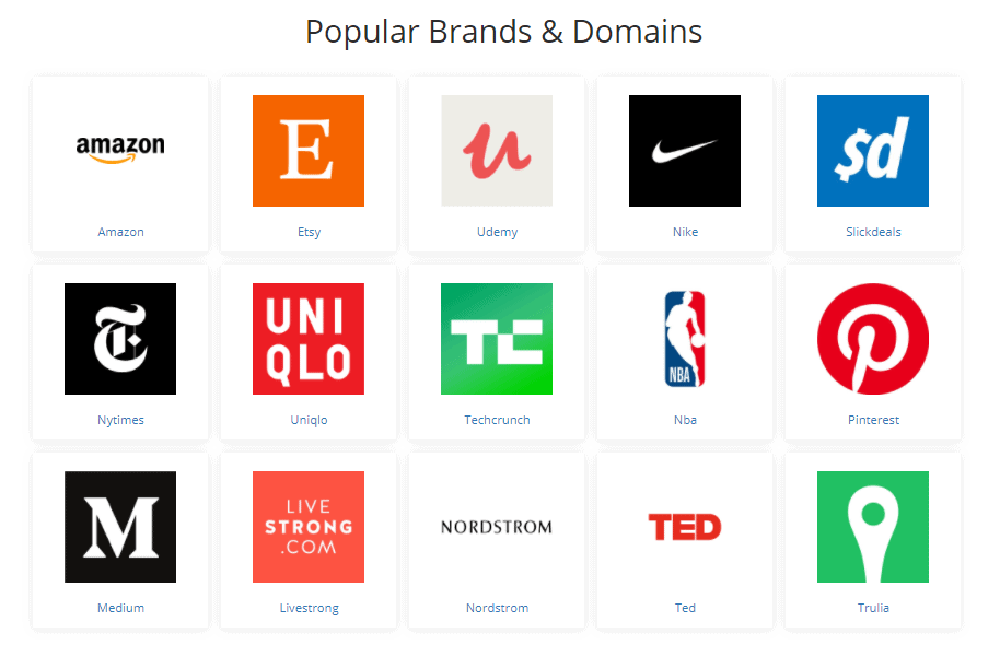 SimilarMail popular brands and domains