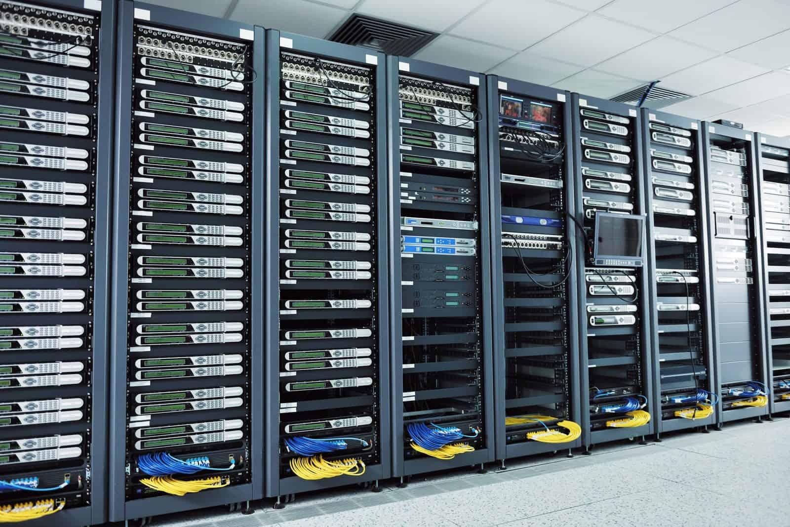 Inside of server room
