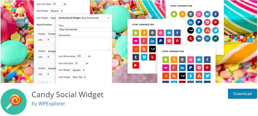 Candy Social Widget