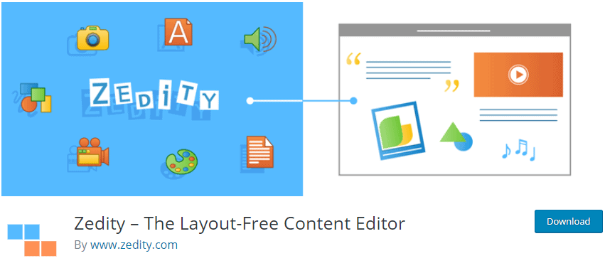 Zedity – The Layout-Free Content Editor