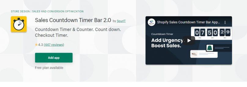 Sales Countdown Timer Bar